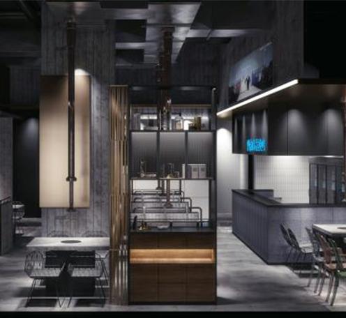 光柏士灯光改造案例丨顺德碳烤工坊韩国烤肉餐厅