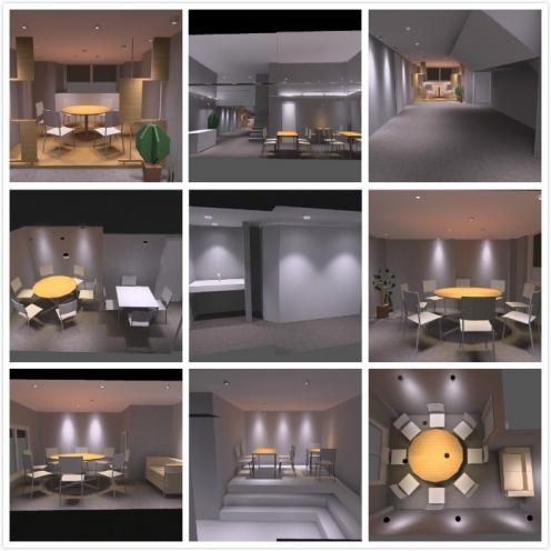 江门五香咀餐厅灯光模拟-光柏士餐饮照明