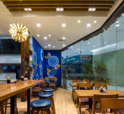 东南亚/混搭 特色快餐厅灯光设计案例