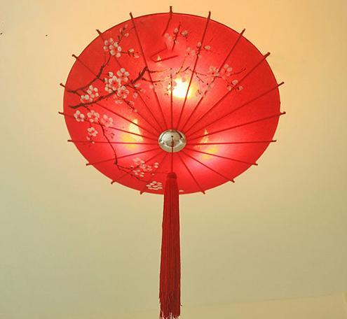 中式花伞吊灯