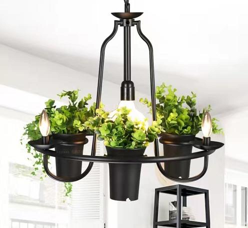 水培植物装饰吊灯,生态餐厅装饰灯,