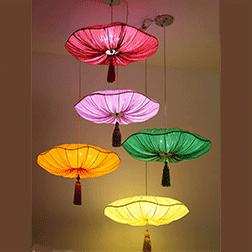 中式布艺餐厅吊灯