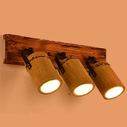 工业风竹艺壁灯