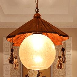 复古实木餐厅吊灯