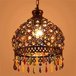 彩色水晶餐厅吊灯