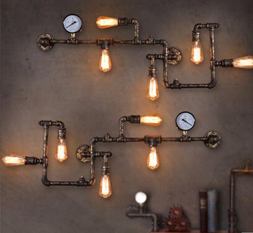 铁艺水管壁灯