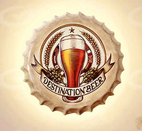 创意啤酒盖壁灯