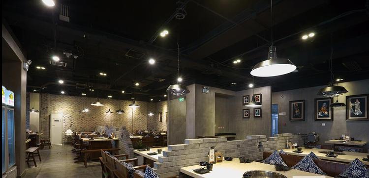 餐饮照明灯具装饰--LED双头斗胆灯灯光装饰应用