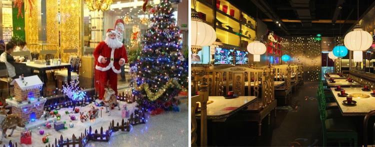 圣诞节给餐厅灯光加点料,增点色
