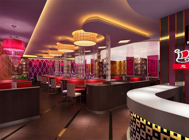 主题餐厅灯光设计强调不同就餐区域进行局部的重点照明
