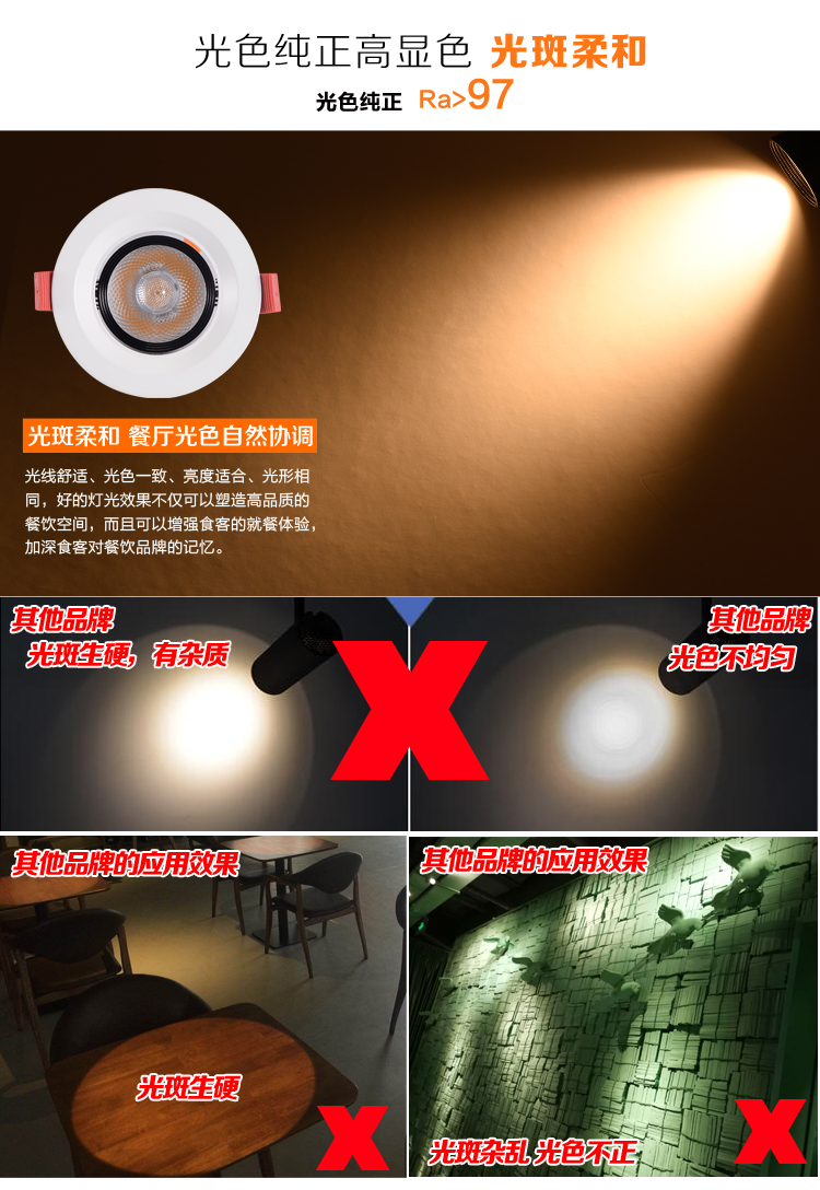 餐厅桌面应该使用怎么的光束角照射才是合适的?55体育官网_55体育app下载餐饮照明灯光设计